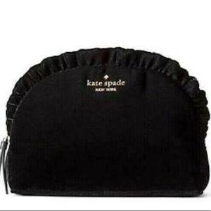 Kate Spade Velvet Cosmetic Bag